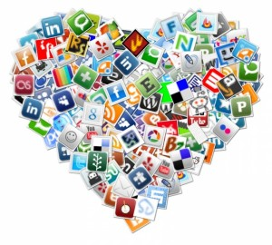 social-media-heart-collage